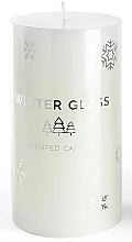 Духи, Парфюмерия, косметика Ароматическая свеча,белая, 7х13см - Artman Winter Glass