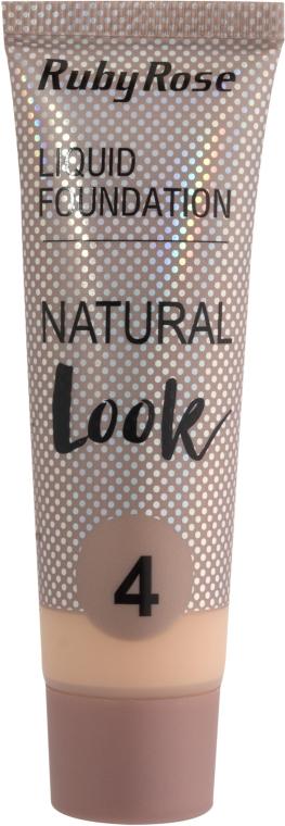 Тональный крем - Ruby Rose Natural Look Liquid Foundation