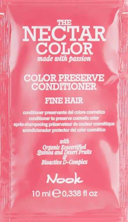 Кондиционер для сохранения косметического цвета - Nook The Nectar Color Color Preserve Conditioner (пробник)