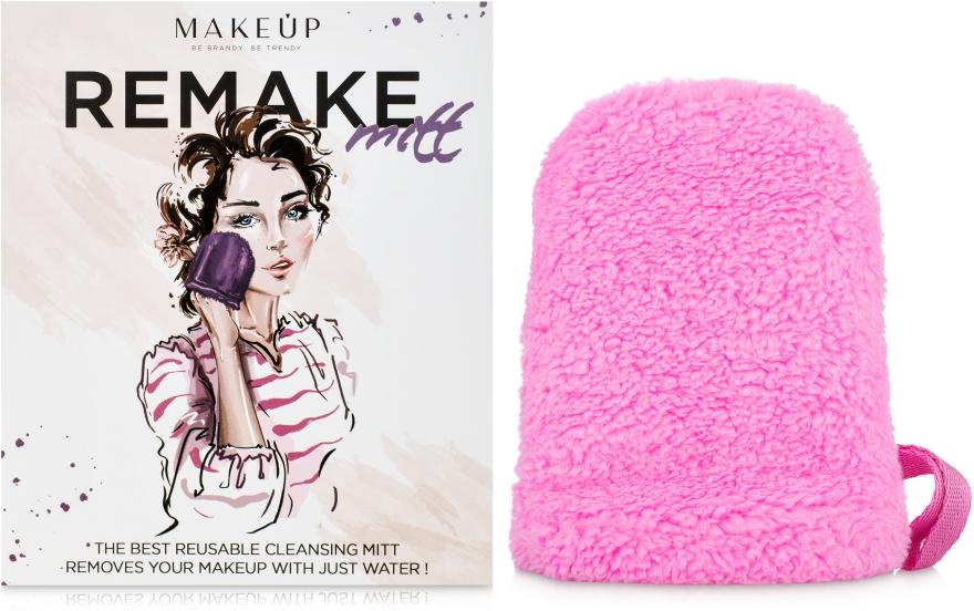 "Рукавичка для снятия макияжа, розовая ""ReMake"" - Makeup"