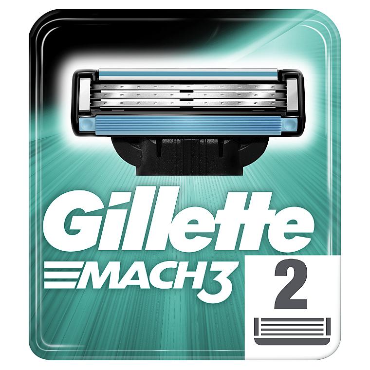 Сменные кассеты для бритья, 2 шт. - Gillette Mach3