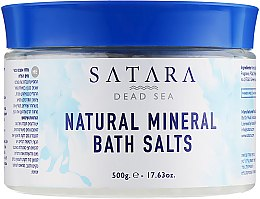 Духи, Парфюмерия, косметика Натуральная минеральная соль для ванн (в банке) - Satara Dead Sea Natural Mineral Bath Salts