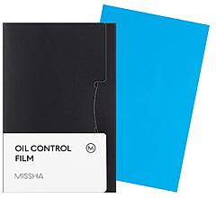 Духи, Парфюмерия, косметика Матирующие салфетки - Missha Oil Control Film Blue
