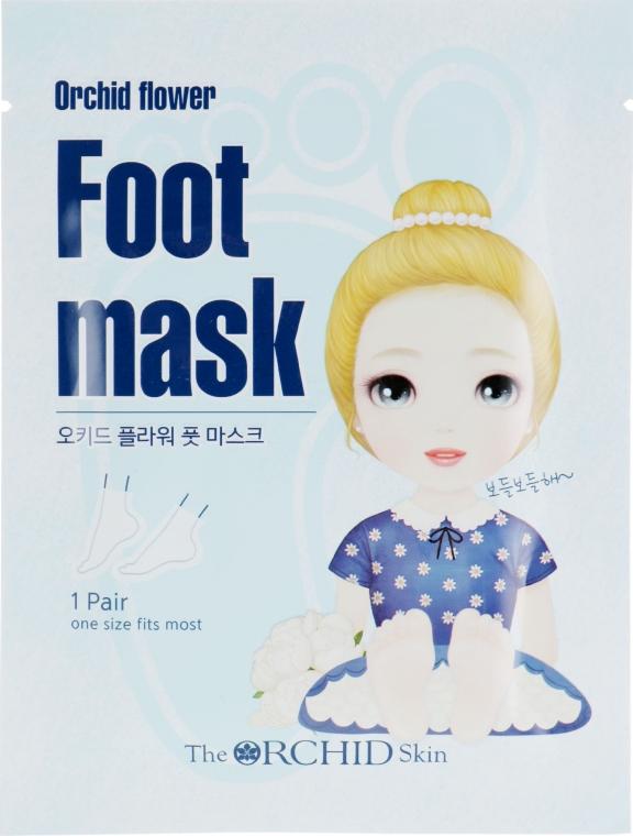 Тканевая маска для ступней - The Orchid Skin Orchid Flower Foot Mask Sheet
