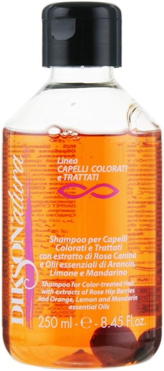 Шампунь для окрашенных волос с экстрактом красного шиповника - Dikson Natura Shampoo Colorati