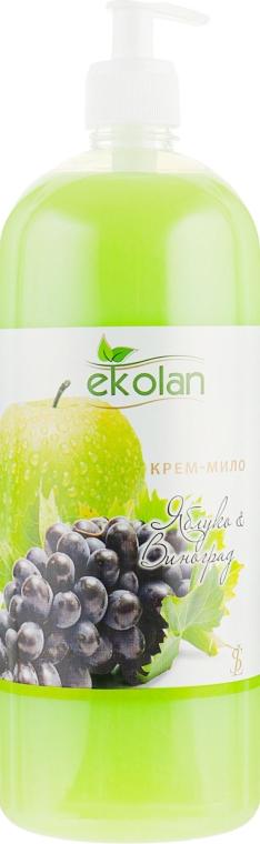 """Крем-мыло """"Яблоко-виноград"""" - Ekolan"""