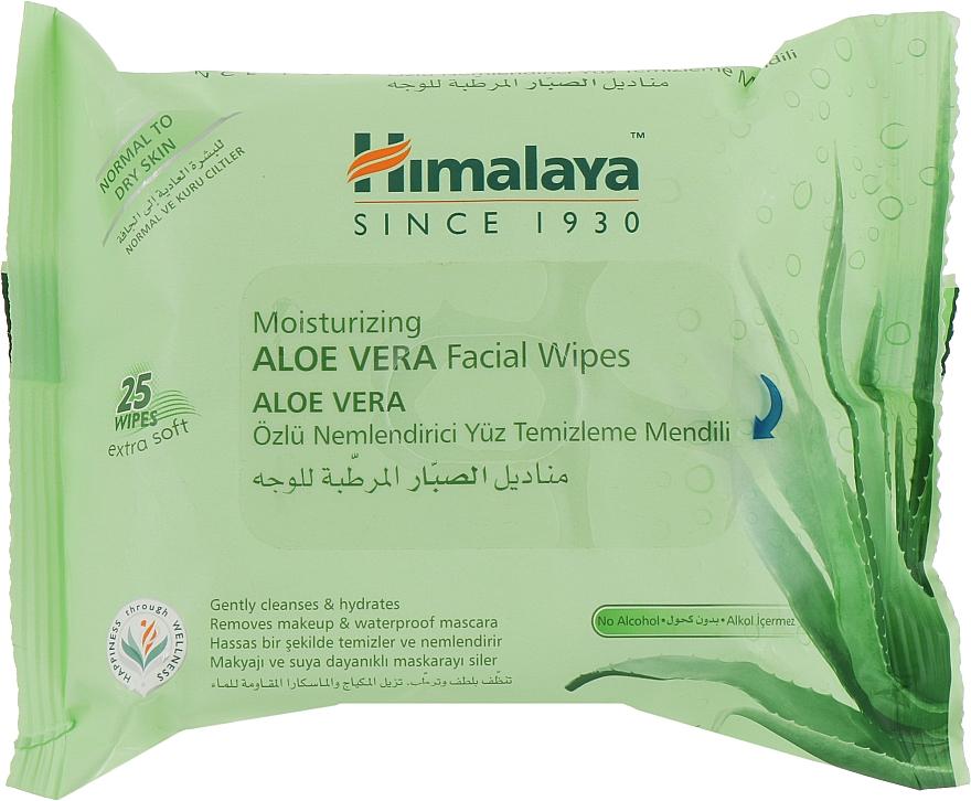 Увлажняющие салфетки для лица, с алоэ вера - Himalaya Moisturizing Aloe Vera Facial Wipes