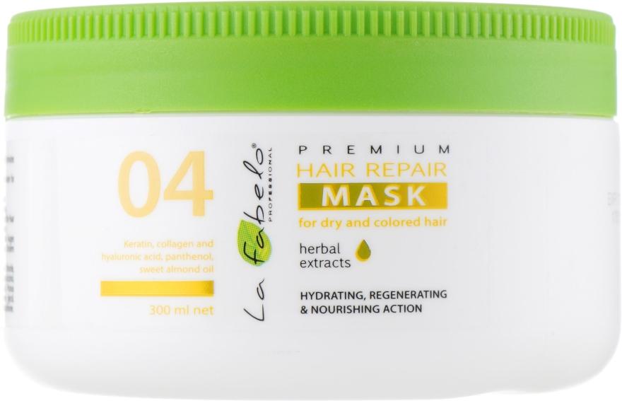 Восстанавливающая маска для сухих и окрашенных волос - La Fabelo Premium 04 Hair Repair Mask