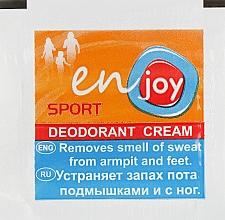 Духи, Парфюмерия, косметика Эко-крем-дезодорант - Enjoy & Joy Sport Deodorant Cream (пробник)
