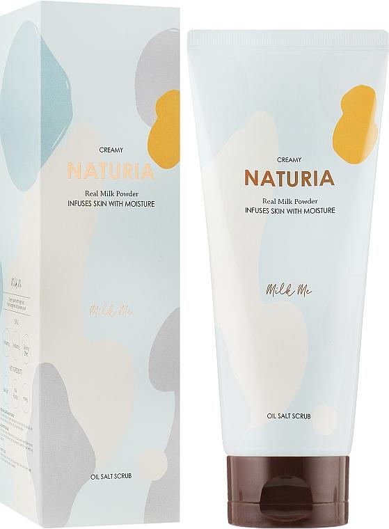 Скраб для тела - Naturia Creamy Oil Salt Scrub Milk Me