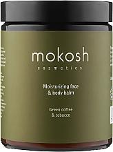 "Духи, Парфюмерия, косметика Увлажняющий лосьон для лица и тела ""Зеленый кофе с табаком"" - Mokosh Cosmetics Moisturizing Face And Body Lotion Green Coffee With Snuff"