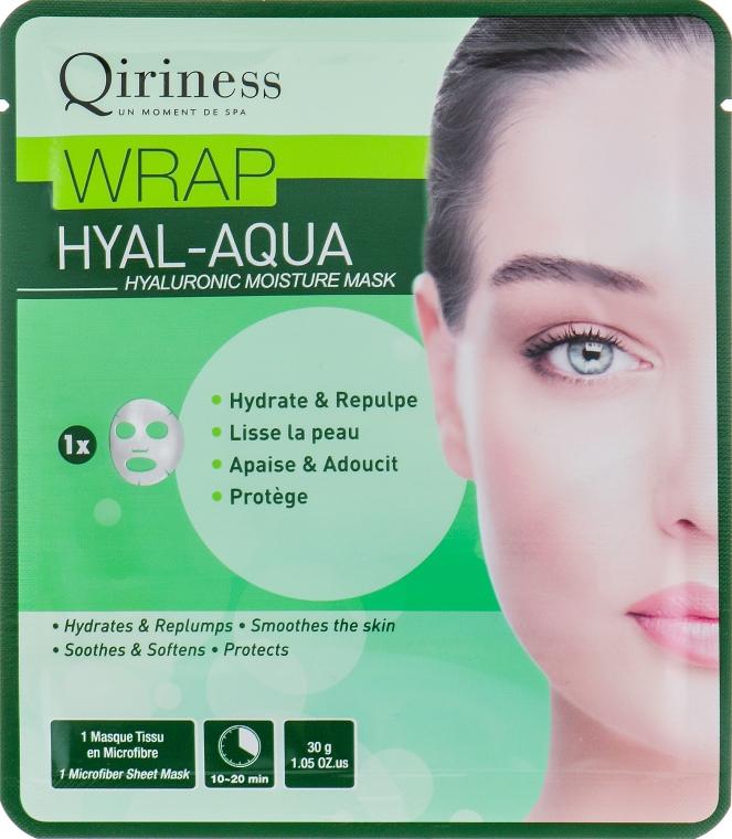 Гиалуроновая увлажняющая и омолаживающая тканевая маска - Qiriness Wrap Hyal-Aqua Hyaluronic Moisture Mask
