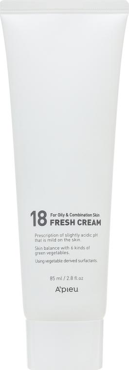 Освежающий крем для жирной и комбинированой кожи - A'pieu 18 Cream