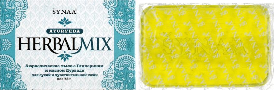 Мыло с Глицерином и маслом Дурвади для сухой и чувствительной кожи - Synaa Herbalmix