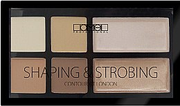 Парфумерія, косметика Палетка для контурингу - Lamel Professional Shaping & Strobing Contour Kit