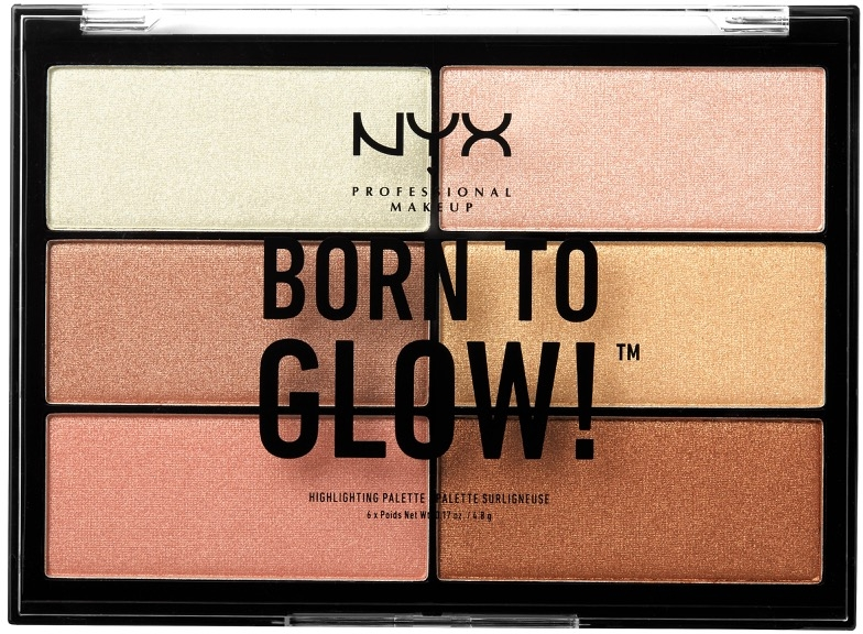 Палетка хайлайтеров - NYX Professional Makeup Professional Born to Glow Highlighting Palette