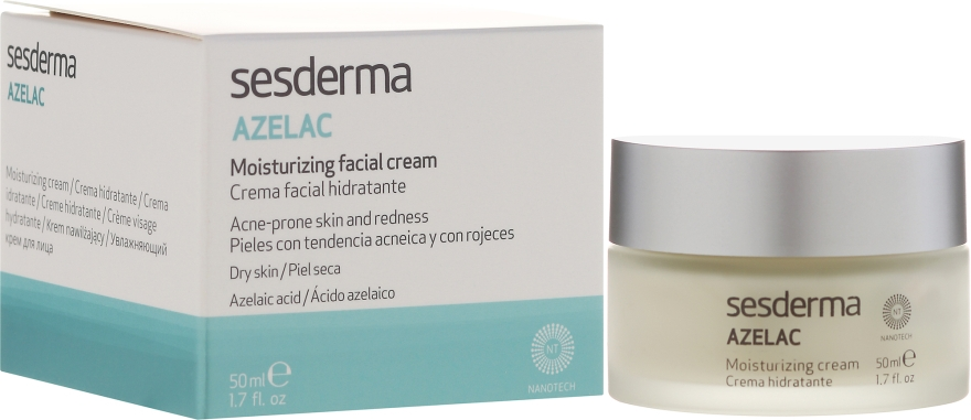 Увлажняющий крем для лица - SesDerma Laboratories Azelac Moisturizing Cream