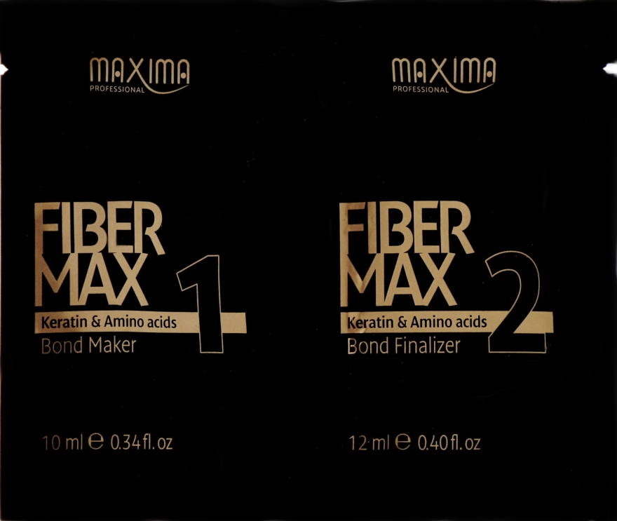 "Набор ""Кератиновое восстановление"" - Maxima Fiber Max (keratin/bond maker/10 ml + keratin/bond finalizer/12 ml)"