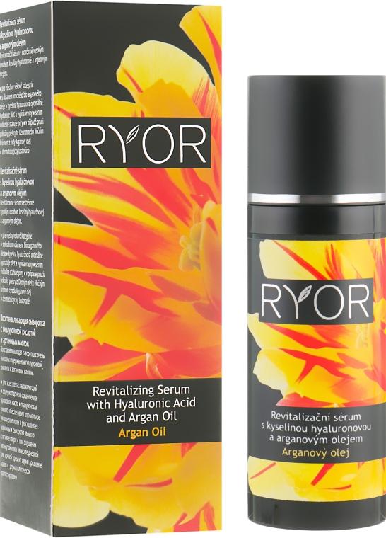 Восстанавливающая сыворотка с гиалуроновой кислотой и аргановым маслом - Ryor Revitalizing Serum With Hyaluronic Acid And Argan Oil