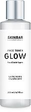 "Духи, Парфюмерия, косметика Тонер для ровного тона и сияния лица ""Glow"" - SKINBAR Face Toner With Lactic Acid & Glycolic Acid"