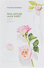 Тканевая маска для лица с экстрактом розы - Nature Republic Real Nature Mask Sheet Rose — фото N1