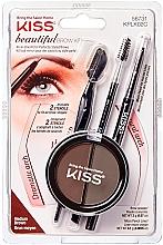 Духи, Парфюмерия, косметика Набор для моделирования бровей - Kiss Beautiful Brow Kit
