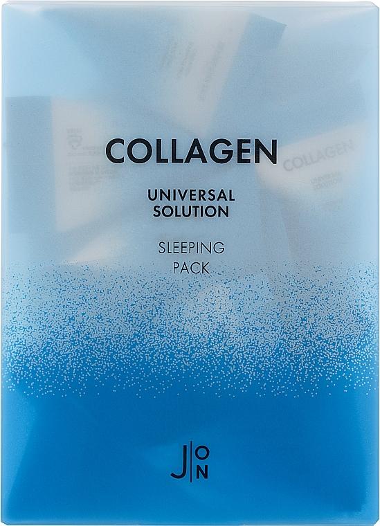 Ночная маска для лица с коллагеном - J:ON Collagen Universal Solution Sleeping Pack (мини)