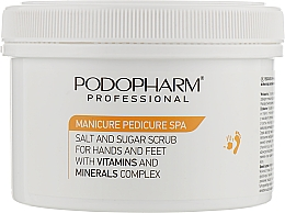 Духи, Парфюмерия, косметика Сахарно-солевой пилинг для ладоней и стоп с витаминами и минералами - Podopharm Professional Hand And Foot Scrub
