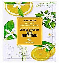 Духи, Парфюмерия, косметика Тканевая маска для лица - Mamonde Flower Essential Mask Orange Blossom Vita Nutrition