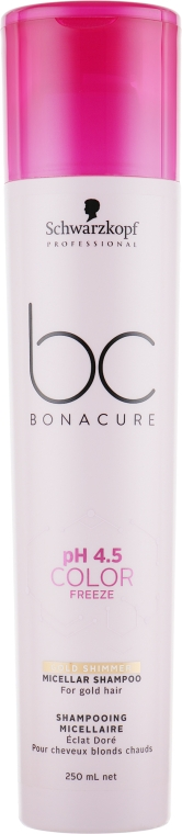 Мицеллярный шампунь - Schwarzkopf Professional BC Bonacure pH 4,5 Color Freeze Gold Shimmer
