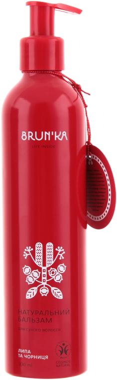 """Натуральный бальзам для сухих волос """"Липа и Черника"""" - Brunka"""