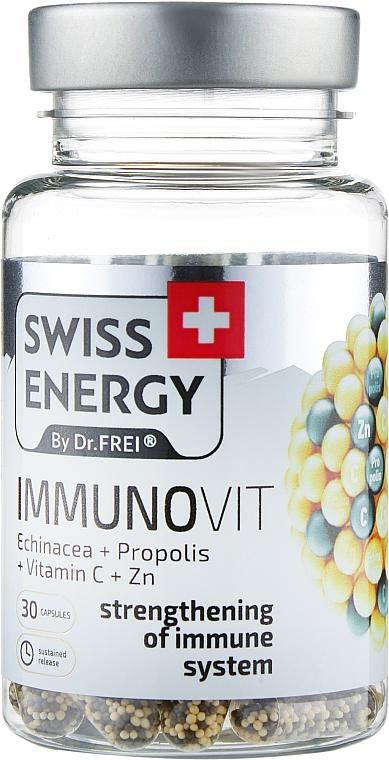 "Витамины в капсулах ""Эхинацея + Прополис + Витамин С + Цинк"" - Swiss Energy Immunovit"