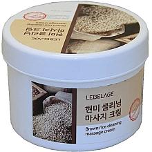 Духи, Парфюмерия, косметика Массажный крем с бурым рисом - Lebelage Brown Rice Cleaning Massage Cream