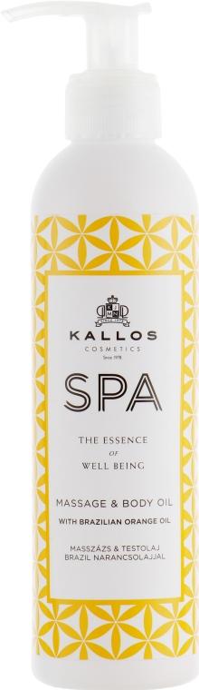 Массажное масло для тела - Kallos SPA Massage & Body Oil With Brazilian Orange Oil