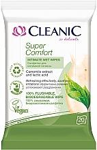 Духи, Парфюмерия, косметика Салфетки для интимной гигиены, 20шт - Cleanic Super Comfort Wipes