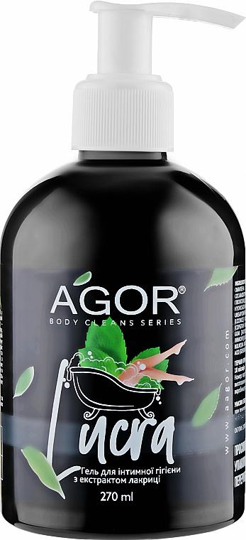 Гель для интимной гигиены с лакрицей - Agor Body Cleans Series Lucra Gel