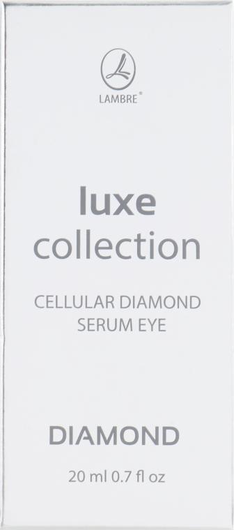 Сыворотка для кожи вокруг глаз - Lambre Luxe Collection Cellular Diamond