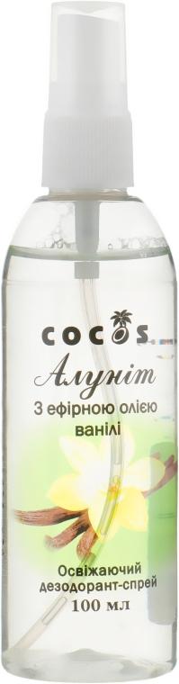 """Дезодорант-спрей """"Алунит"""" с эфирным маслом ванили - Cocos"""