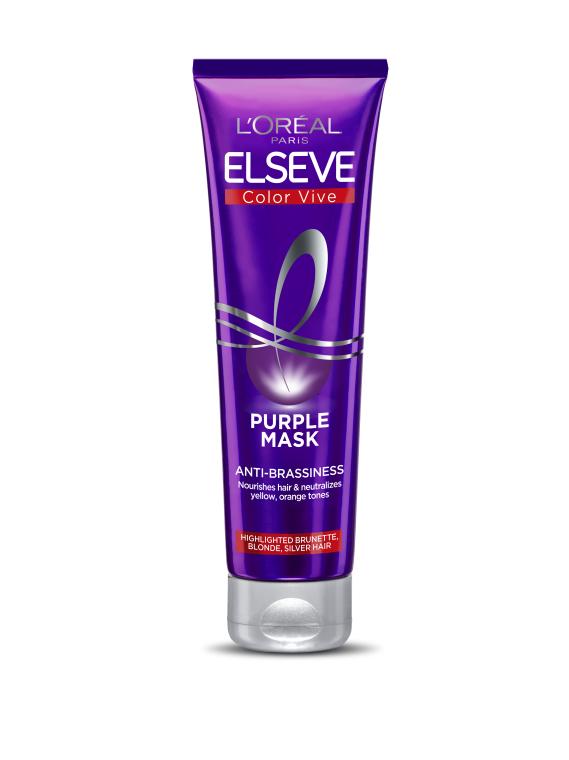 Тонирующая маска для осветленных, мелированых и серебристых волос - L'Oréal Paris Elseve Purple
