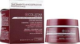 Духи, Парфюмерия, косметика Восстанавливающая маска для волос - Collistar Pure Actives Keratin + Hyaluronic Acid Reconstructive Replumping Mask