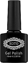 Духи, Парфюмерия, косметика Финишное покрытие для гель-лака без липкого слоя - Koto Top Coat Crystal Cat Eye 02