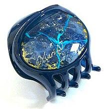 """Заколка """"Краб"""", E752BLO-K1500CR, синяя - Mari N. — фото N2"""