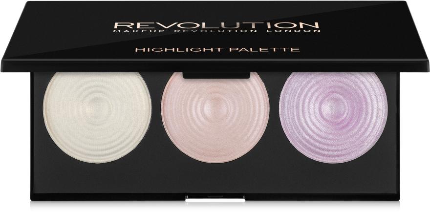 Палитра подчеркивающих хайлайтеров для лица - Makeup Revolution Highlighter Palette