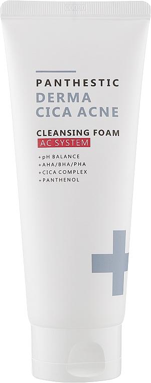 Пенка для умывания для лица - Panthestic Derma Cica Acne Cleansing Foam