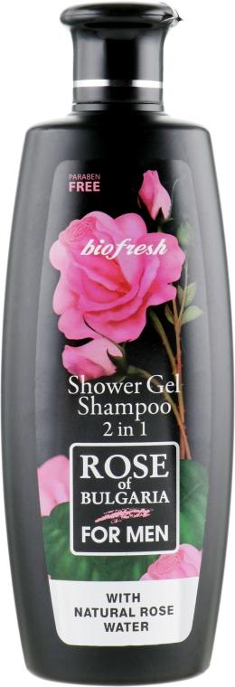 Гель для душа-шампунь для мужчин 2 в 1 - BioFresh Rose of Bulgaria For Men Shower Gel
