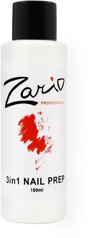 Дегидратор и обезжириватель ногтей - Zario Professional Nail prep 3in1