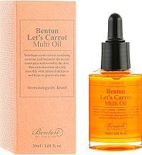 Духи, Парфюмерия, косметика Мультифункциональная сыворотка с маслом семян моркови - Benton Let's Carrot Multi Oil