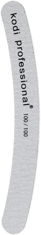 Пилка для ногтей - Kodi Professional (Banana, Grey 100/100)