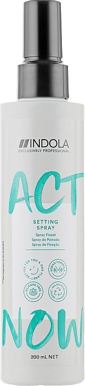Термозащитный спрей для волос - Indola Act Now! Setting Spray