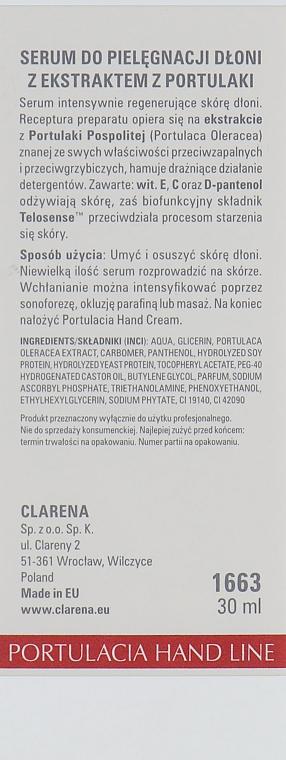 Сиворотка для шкіри рук з екстрактом портулаку - Clarena Sensual Hand Line Portulacia Hand Serum — фото N4